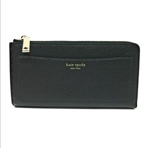 Kate Spade Large Continental Wallet Black Leather